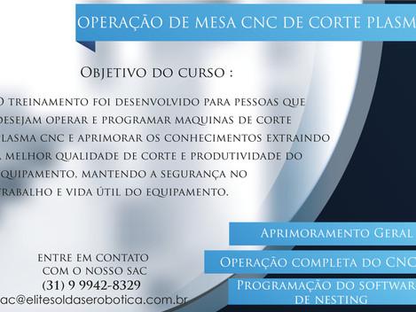 Curso- Operação de mesa cnc de corte plasma
