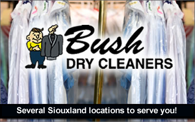 Bush Dry Cleaners Logo