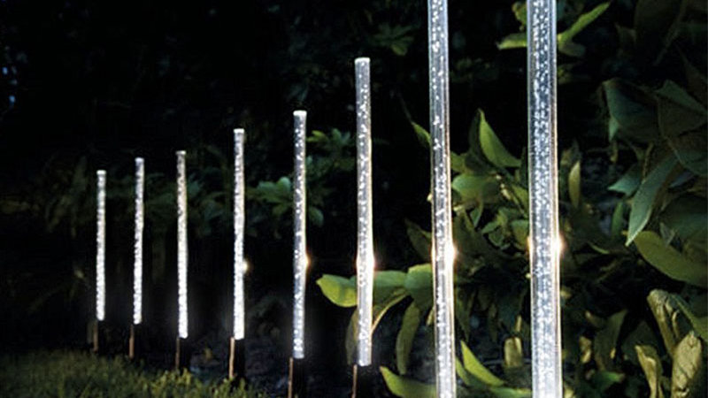 Solar Power Tube Lights Set 5 or 8 Stick Sets