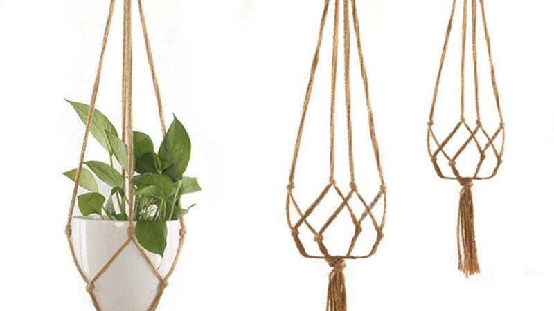 Handmade Flower Pot Hanging Basket Knotted Rope