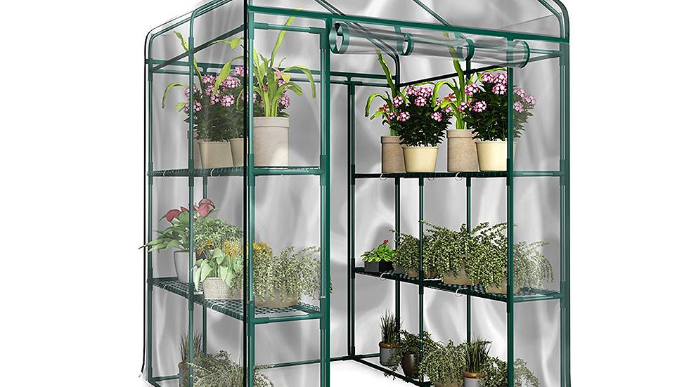 1pc PVC Garden Walk-In Greenhouse Plant Cover (Without Iron Stand)