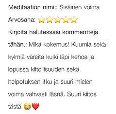 sisäinen voima meditaatio
