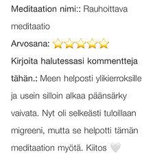 meditointi kivunlievitys