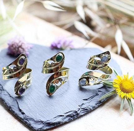 Anells Saisha, amb pedres natural