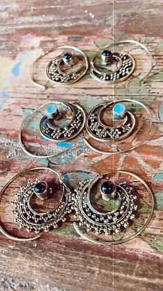 Arracades espiral amb pedres naturals
