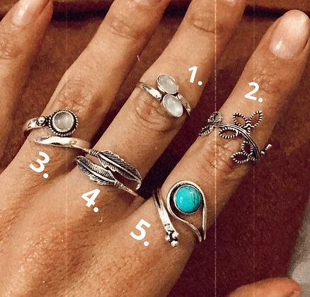Anells amb pedres naturals