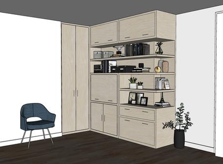 Built-In Desk Cabinet