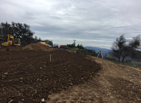 Hilltop Home Under Construction