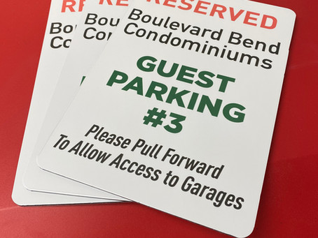 Parking Signs : Boulevard Bend Condos, Frisco Colorado