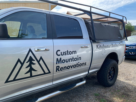 Truck decals - Summit Cove Near Keystone