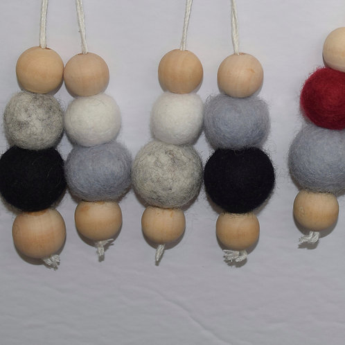 Felted Ball Ornament