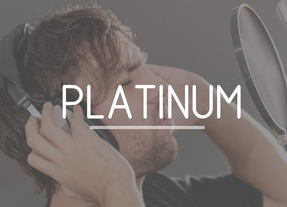 PLATINUM recording experience package