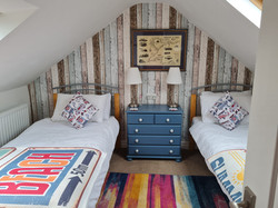 The Old Post Office Bull Bay Angelsey Attic twin bedroom 2021-09-07-12