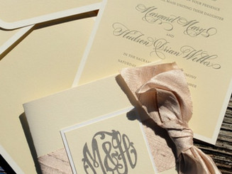 Custom Letterpress Upscale Wedding Package