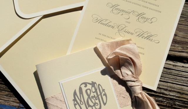 Custom Letterpress Upscale Wedding Package