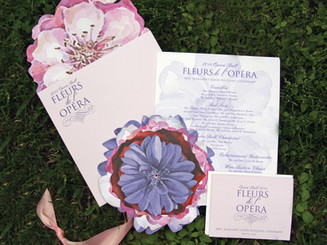 Floral Themed Ball Invitation