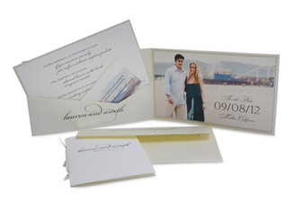 Beach Themed Wedding Save the Date
