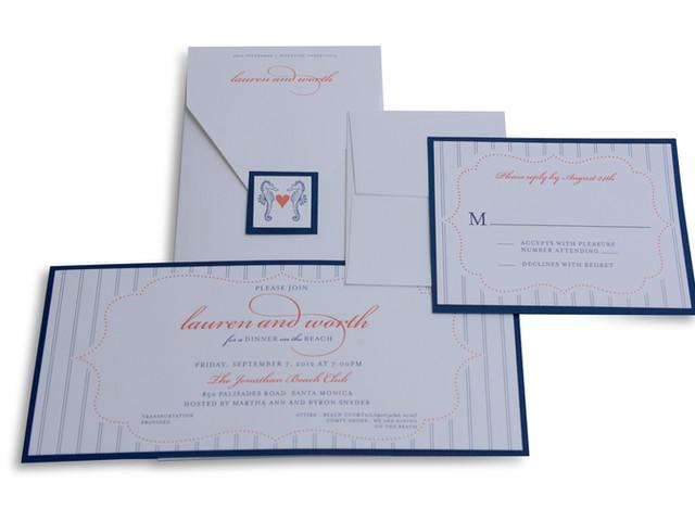 Letterpress Wedding Rehearsal Dinner Invitation