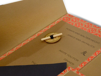Asian Themed Custom Dinner Party Invitation