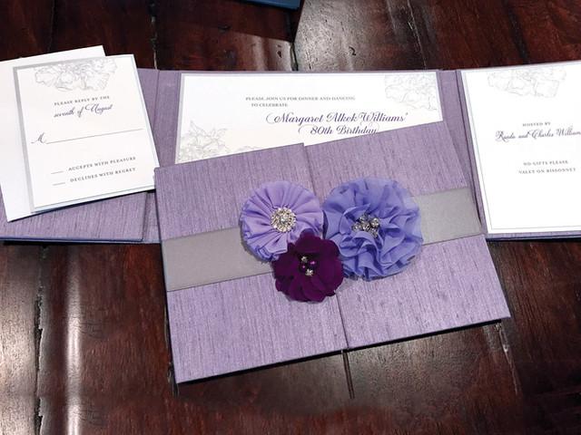 80th Birthday Party Custom Invitation
