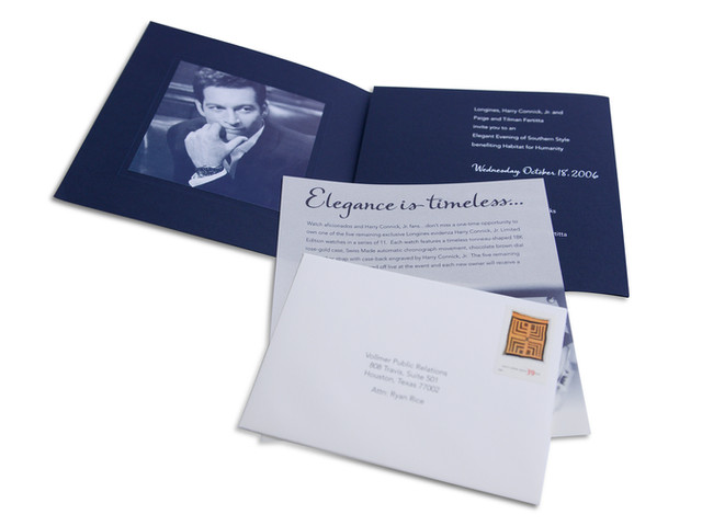 Benefit Invitation Package Featuring Celebrity and Auction