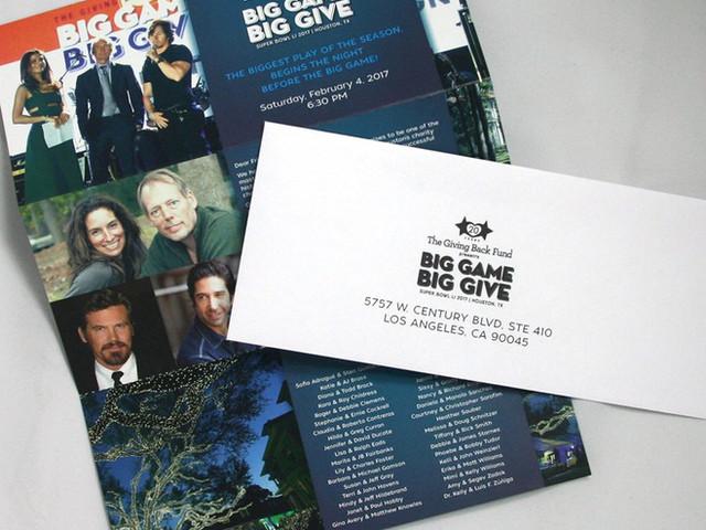 Big Give Gala Invitation