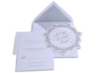 Letterpress Holiday Invitation