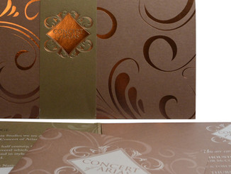 Copper Foil Stamped Invitation - Close Up