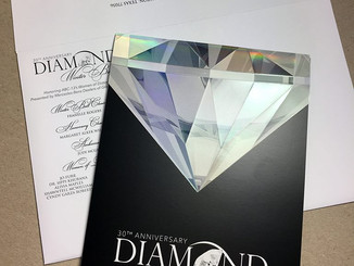 Diamond Anniversary Ball Invitation