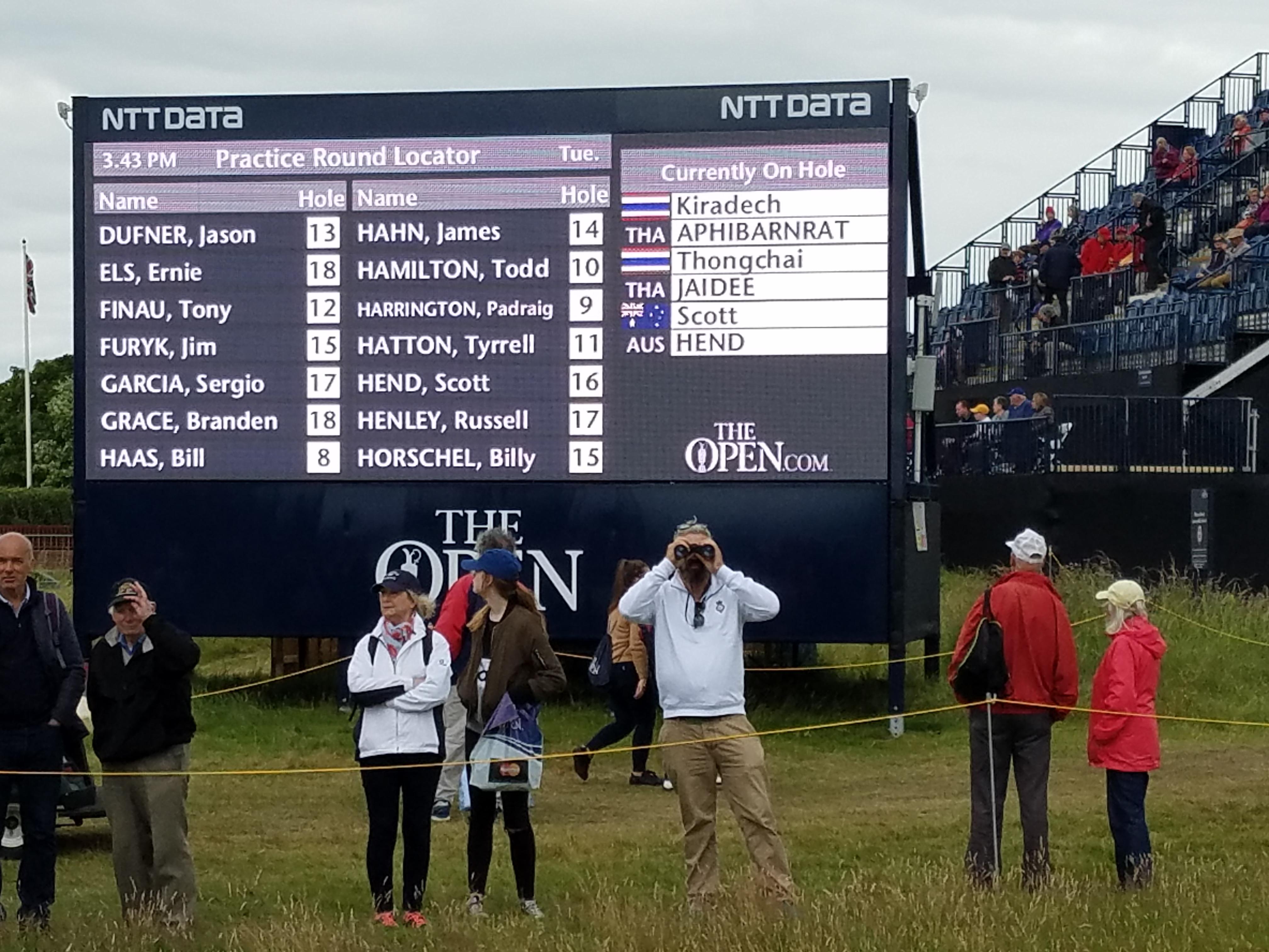 the open 2016 scoreboard