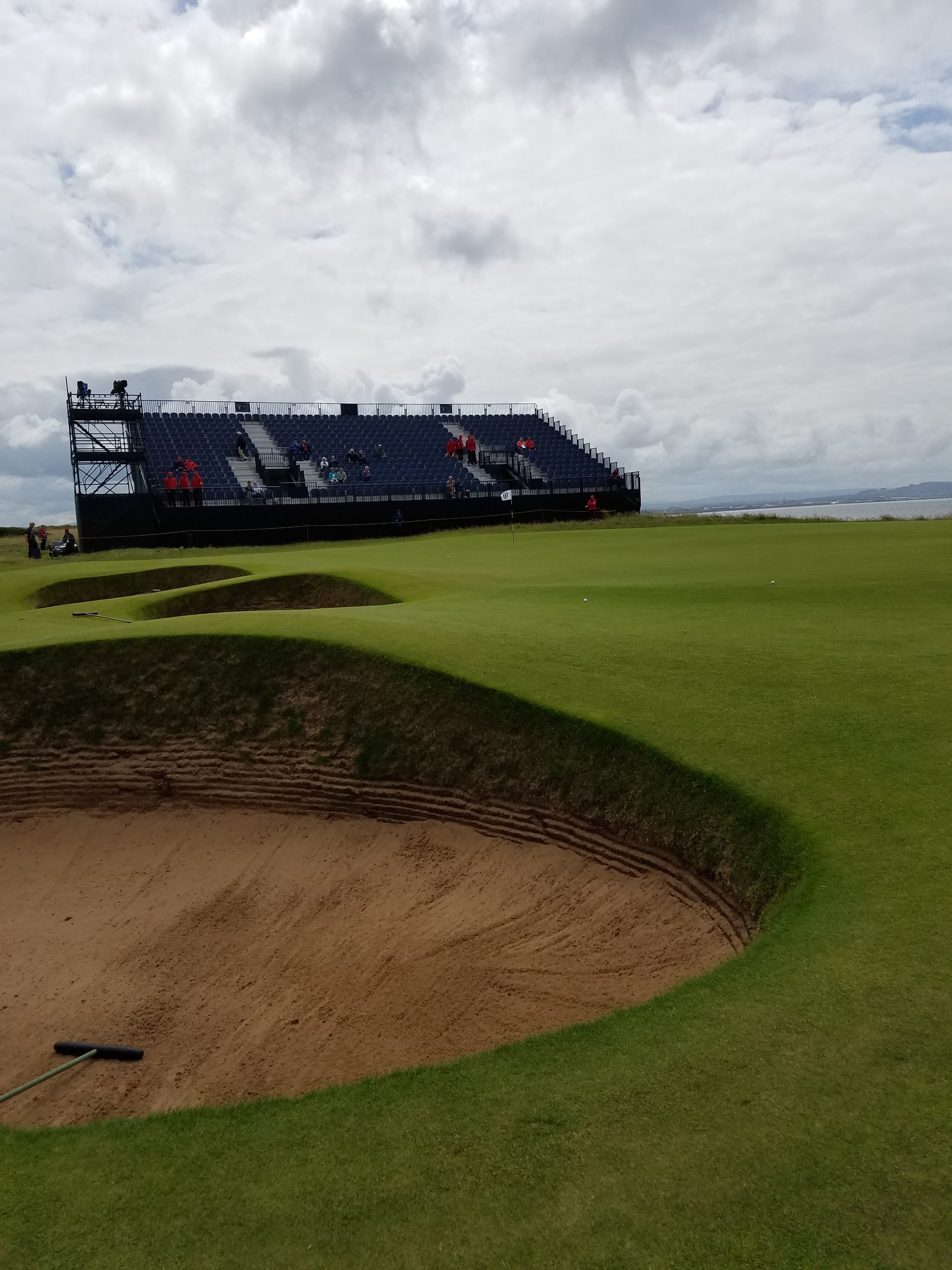 the open 2016 bunker and grandstand