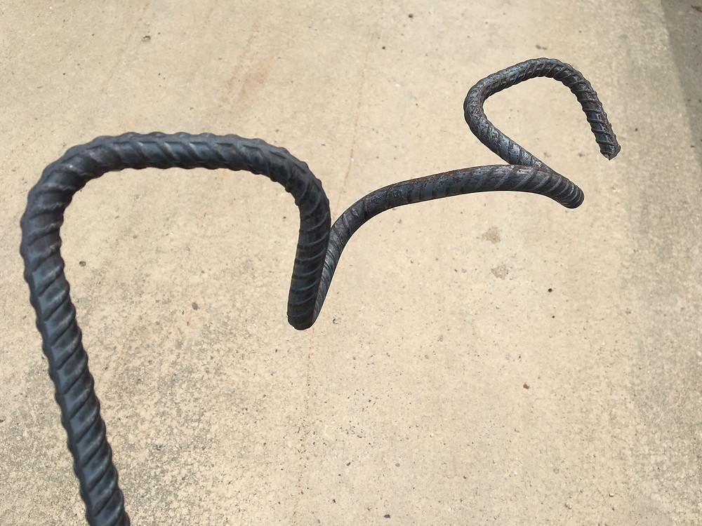 Bending Rebar Corkscrew