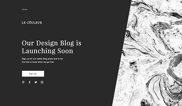 Presto in Arrivo template – Blog coming soon
