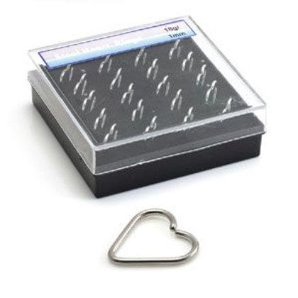 Box Steel Heart Rings