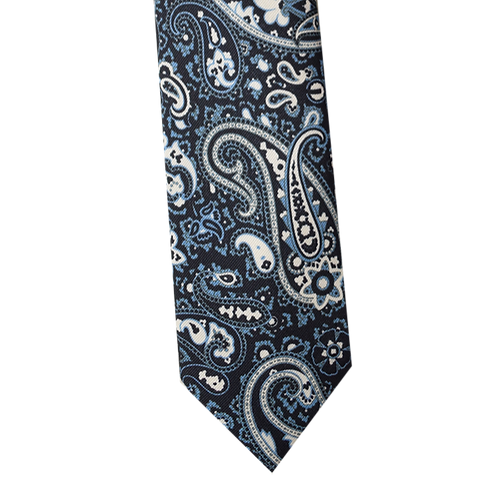 3 FOLDS Tie_ Printed cotton