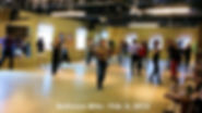 Ballroom dancers at a group dance lesson