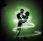 Ballroom dancers dancing to music