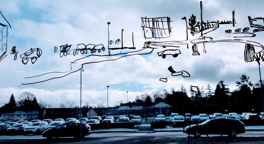 Car park drawing