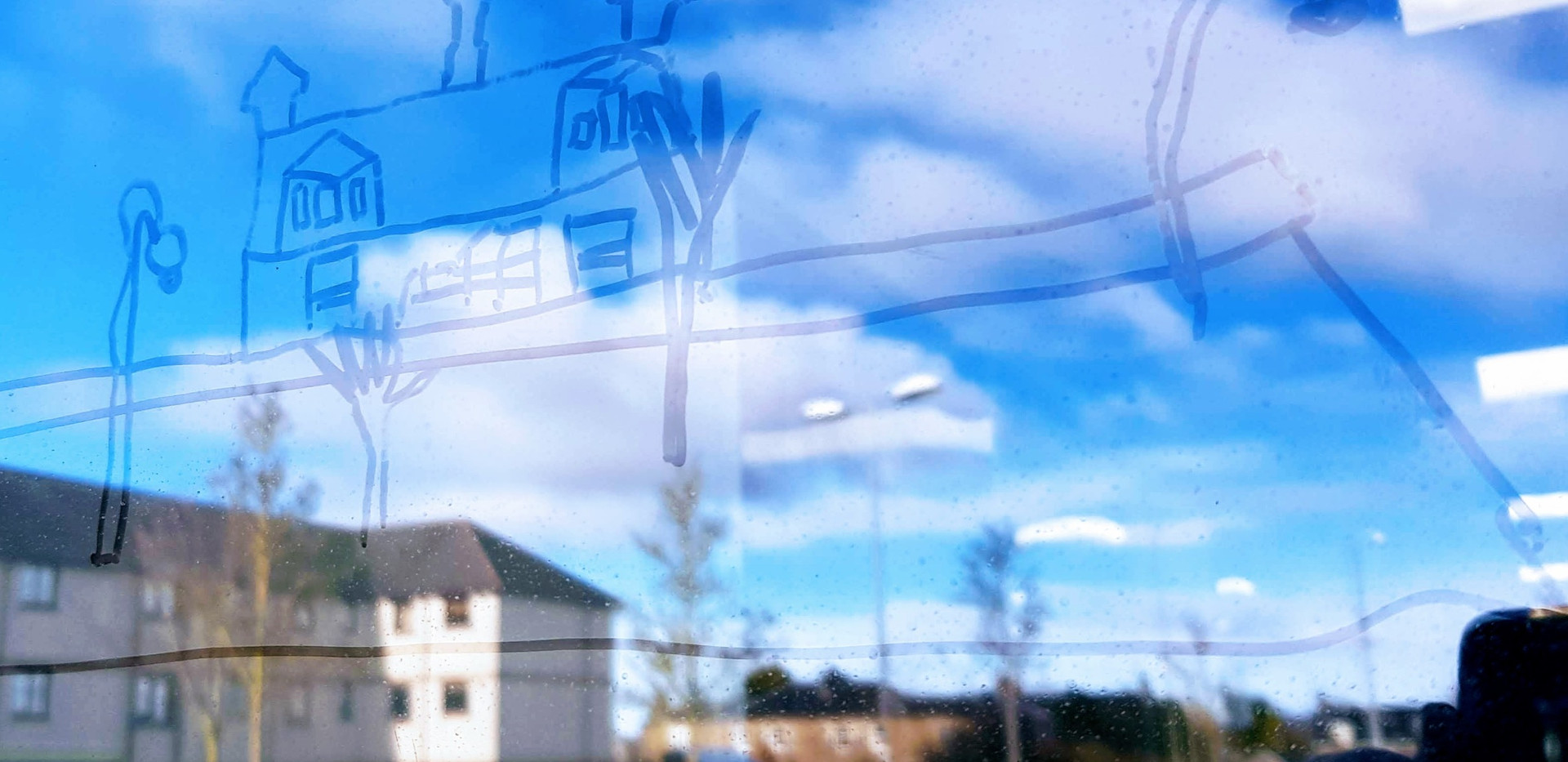 Window drawing with reflections