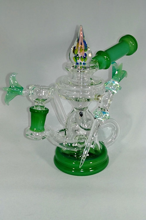 0-1 RECYCLER with encased opal and magnetic dabber