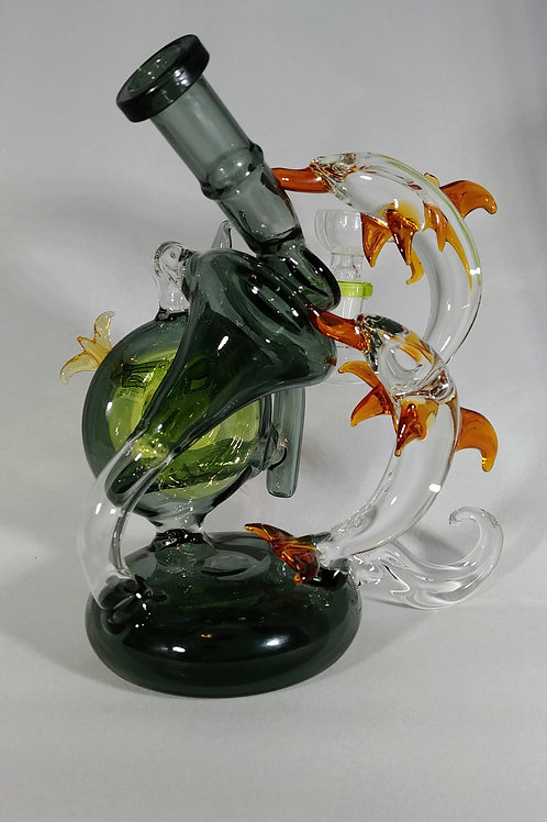 AGE DOLPHIN RECYCLER with LEDs, and magnetic dabber