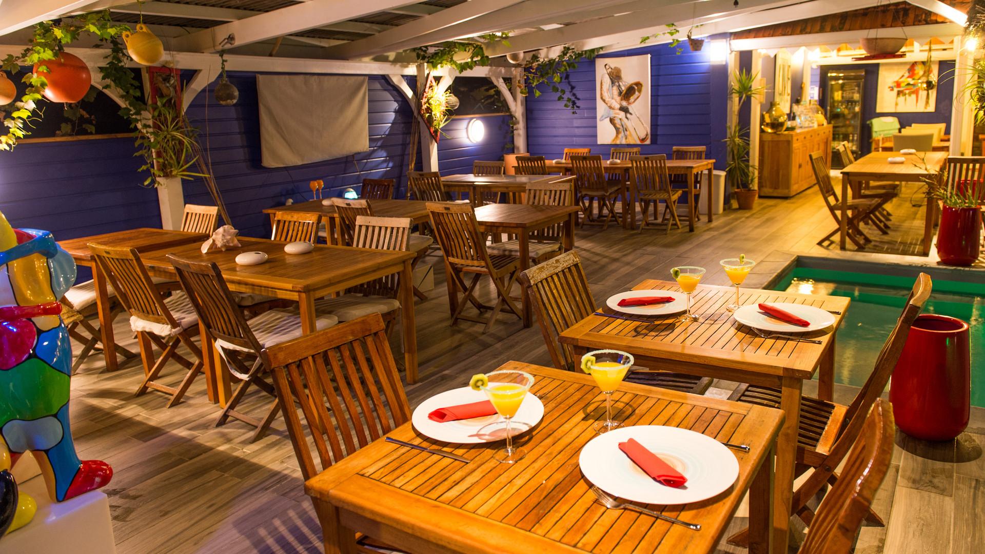 Restaurant, Hôtel Frégate Bleue Martinique