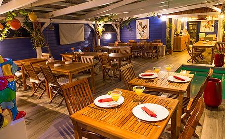 Le restaurant de l'Hôtel*** Frégate Bleue Le François Martinique