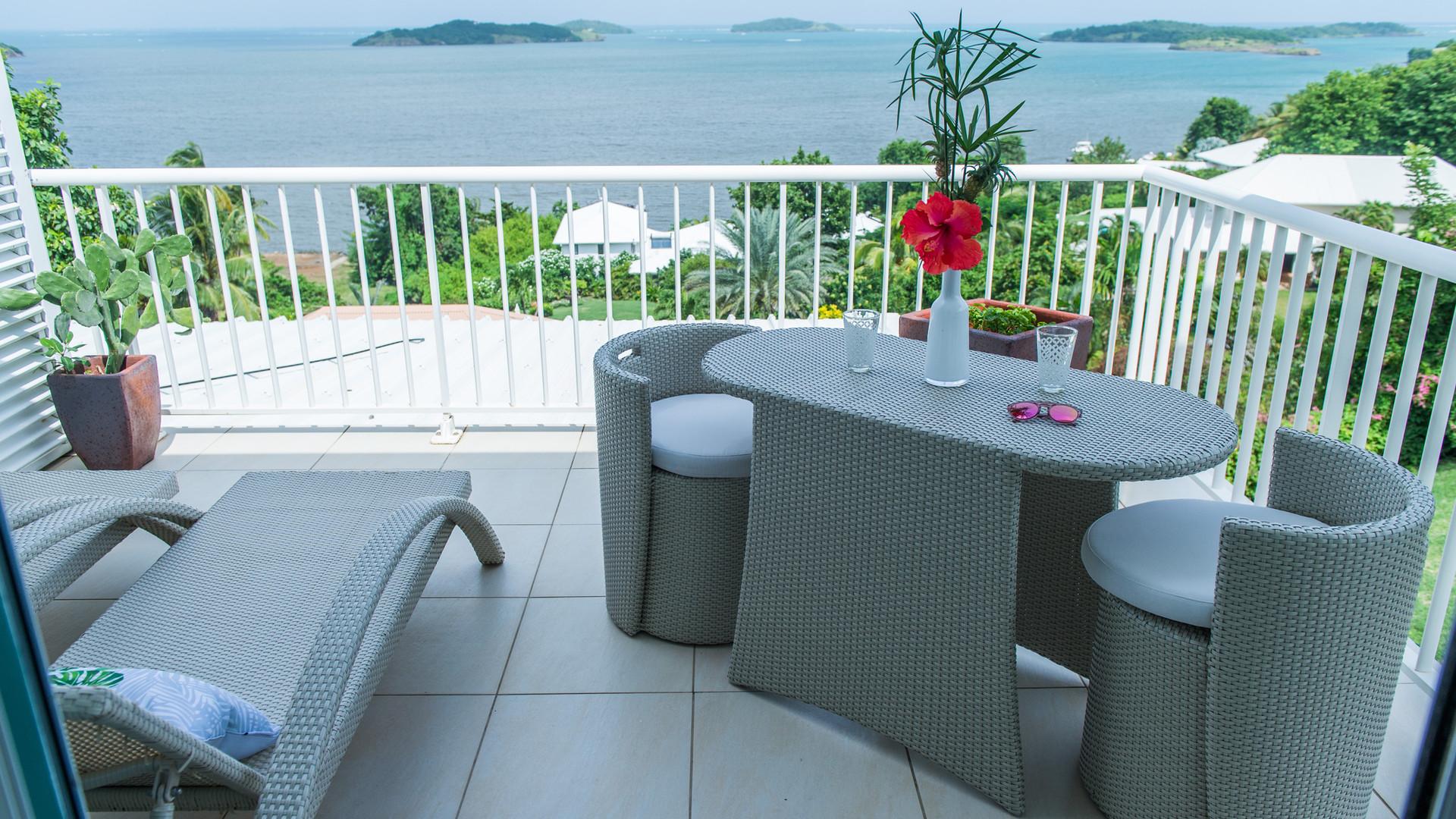 Chambre avec terrasse Hôtel Frégate Bleue Martinique
