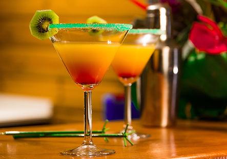 Cocktails au bar de l'Hôtel*** Frégate Bleue Le François Martinique