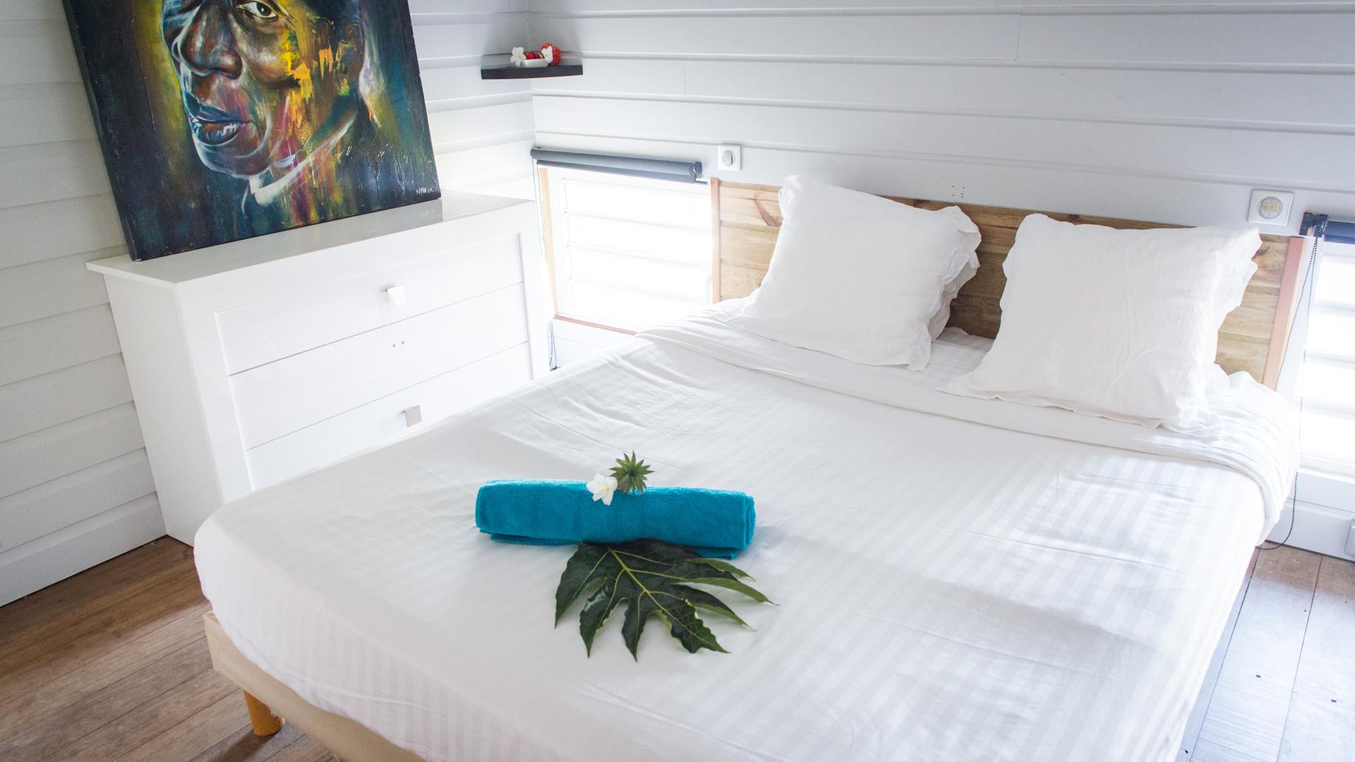 Jolie chambre Hôtel *** Frégate Bleue Martinique
