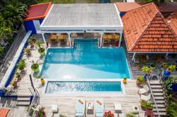 Vue aérienne drone Hôtel Frégate Bleue Martinique