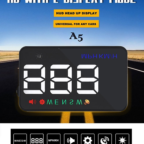5.5 inch OBD II Car HUD Head UP Display with Speed Fatigue Warnin