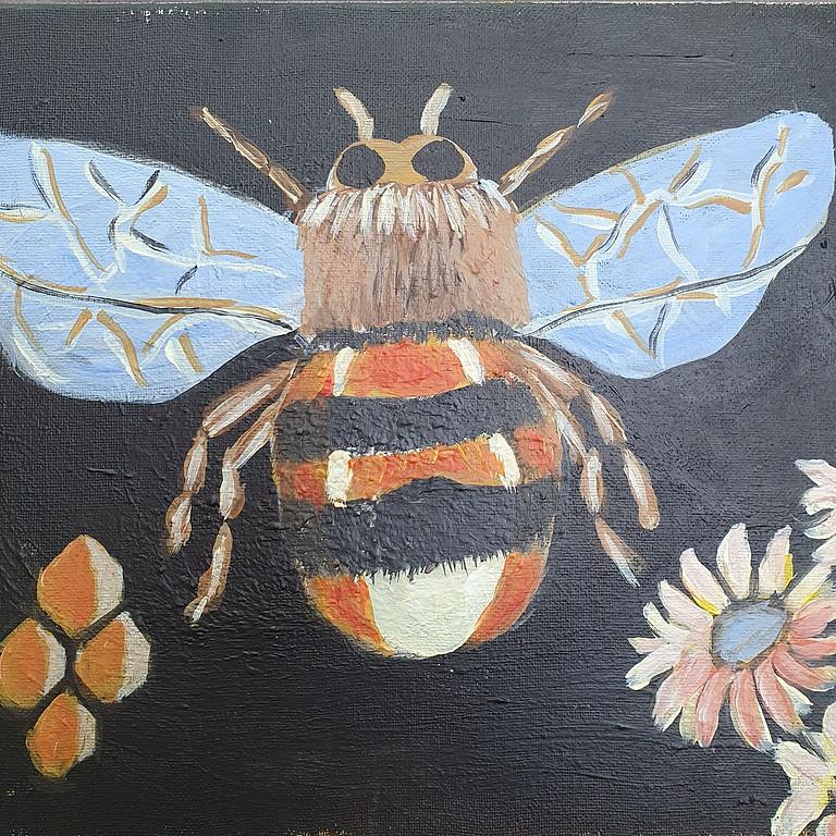 Bumble bee, honey & flowers (great design board)