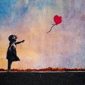 Balloon Girl Banksy style
